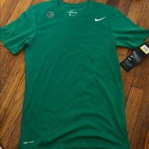 Nike tee Dri-fit green new cotton men's small dry